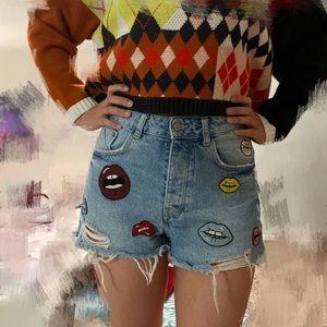 Zara Shorts - ZARA Hi-Rise Ripped Denim Short